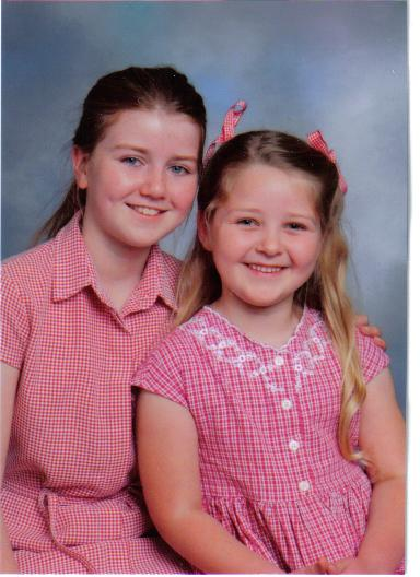 Katie and her younger sister Becca.